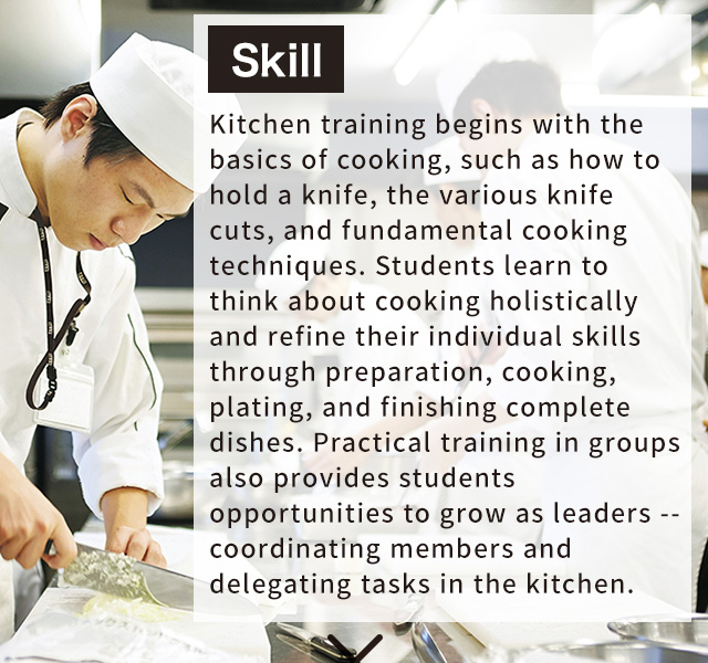 Kitchen Window Knife Skills Class: Tsuji Culinary Institute