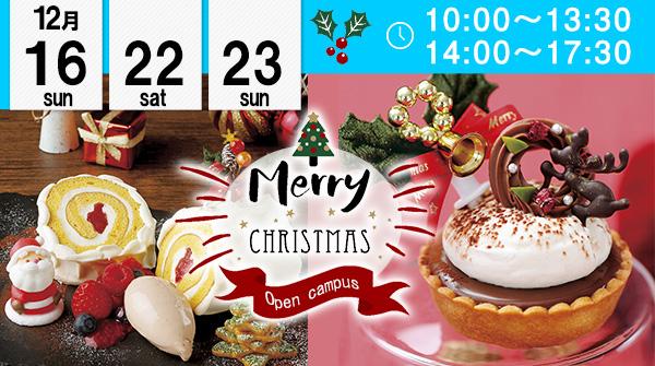 【12月16・22・23日】エコール 辻 大阪でクリスマス限定お菓子をつくろう!(エコール 辻 大阪)